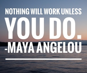 easel, maya angelou, and quotes image