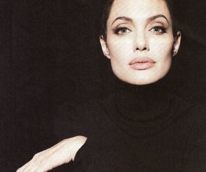 Angelina Jolie, black, and beauty image