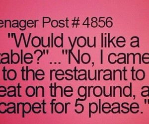 funny, restaurant, and teenager post image