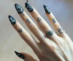 alternative, emo, and nails image