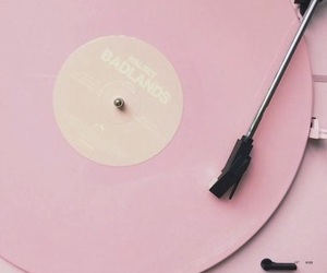 badlands, record player, and pink image