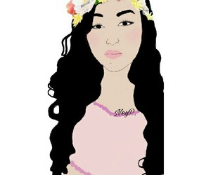 Chica, flowers, and mujer image