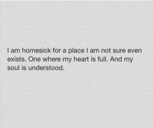 heart, homesick, and quote image