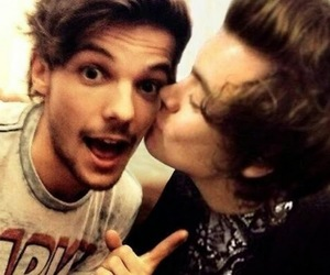 kiss, louis tomlinson, and love image