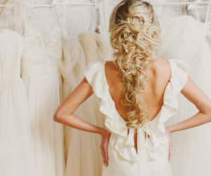 backless dress, etsy, and wedding dress image