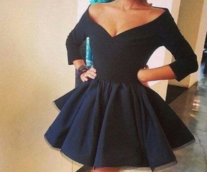 beautiful, black dress, and chic image