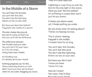 life, quote, and storm image