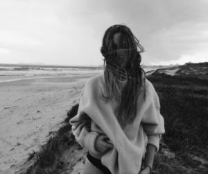 beach, girl, and mode image