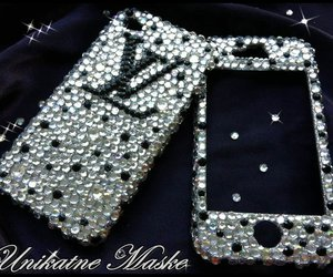 black, crystal, and Louis Vuitton image