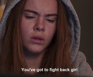 caption, girl, and quote image