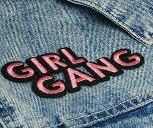 girl gang, denim, and pink image