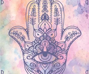 india, watercolor, and mano de fatima image