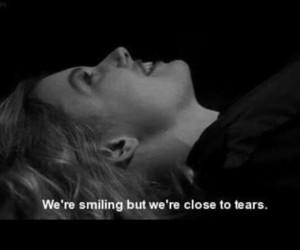 tears, sad, and skin image