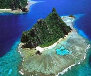 travel, ocean, and fiji image