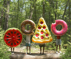 donut, melon, and pizza image