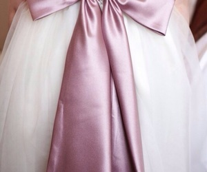 bow, bridal, and pink image