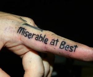tattoo, miserable, and mayday parade image