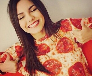 pizza, victoria justice, and smile image