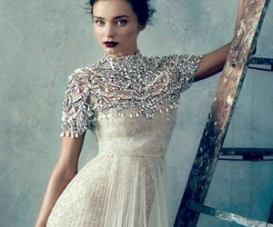 lace, wedding, and jewelled cape image