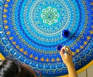 arte, azul, and mandalas image