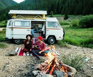 camping, couples, and peace image