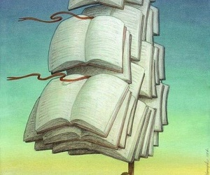 book, boat, and reading image