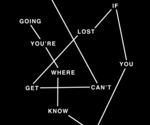 lost, quote, and way image