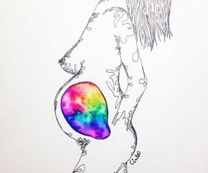 arte, dibujo, and love image