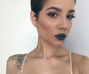 beauty, halsey, and selfie image