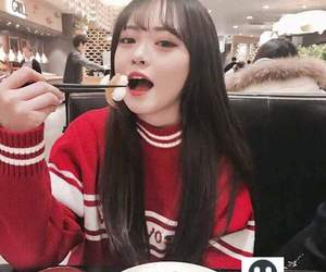 asian, beauty, and eating image