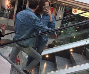 blue, couple, and fashion image