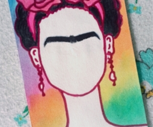 frida kahlo, mini, and acuarela image