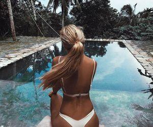 bikini, summer, and pool image