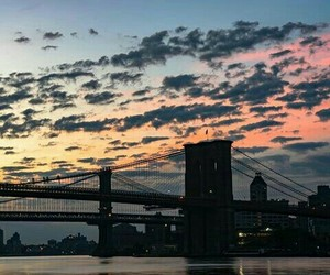 beautiful, brooklyn bridge, and city image