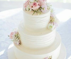 wedding cake, cake, and wedding image