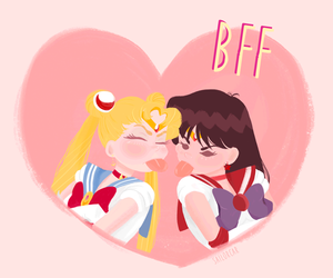 anime, best friends, and kawaii image