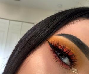 makeup, eyebrows, and eyeshadow image