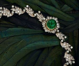 diamonds, necklace, and emeralds image