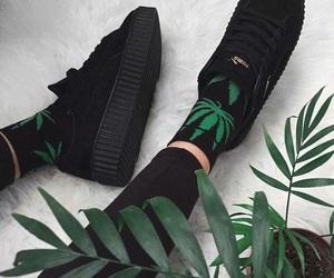 black, shoes, and socks image