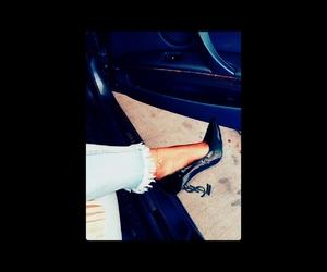 black, black heels, and bmw image