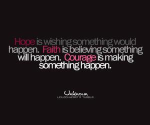 courage, faith, and hope image