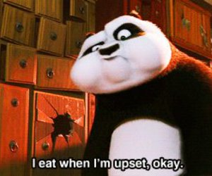 eat, panda, and food image