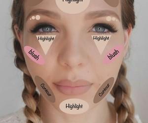 makeup, contour, and blush image