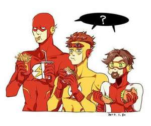 flash and dc comics image
