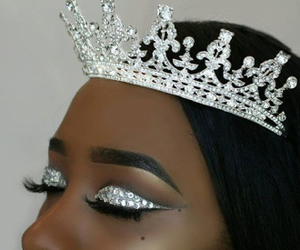 crown, eyebrows, and make up image