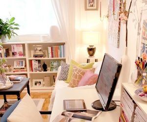 desk, decor, and office image