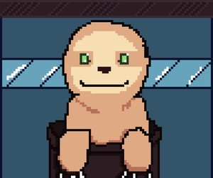 sloth, dotpict, and by me image