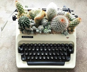 cactus, vintage, and green image