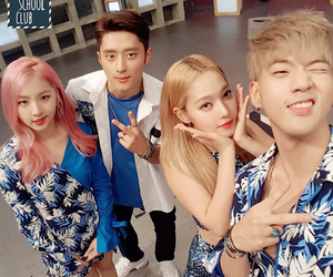 jiwoo, b.m, and somin image