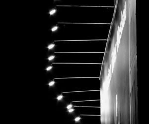 b&w, street lamps, and black&white image